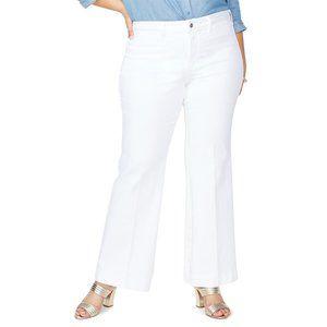 NWT NYDJ Teresa Sateen Trouser Pants Optic White